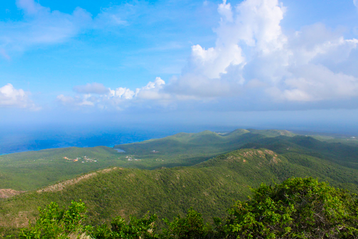 View from the top of Mt. Christoffel in Curacao