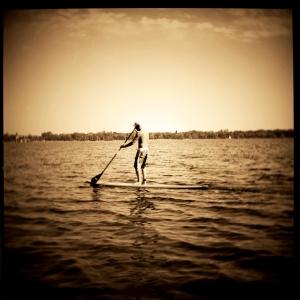 Stand Up Paddle Boarder at Lake Calhoun, Minneapolis, MN