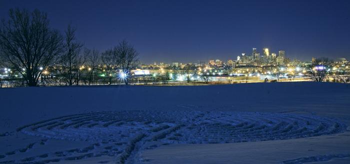 Minneapolis, MN Skyline from St. Anthony overlook