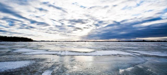 Frozen Lake in Minnesota